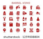 barrel icon set. 30 filled... | Shutterstock .eps vector #1259008804