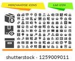merchandise icon set. 120... | Shutterstock .eps vector #1259009011