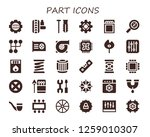 part icon set. 30 filled part...   Shutterstock .eps vector #1259010307