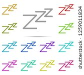 zzz sleeping night sign icon in ...