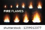 fire flames set vector.... | Shutterstock .eps vector #1259012377