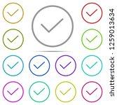 check mark icon in multi color. ...