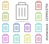trash can icon in multi color....