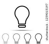 bulb icon in different shapes ...