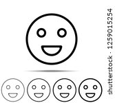 smile icon in different shapes  ...