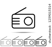 radio icon in different shapes  ...
