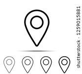 location pin icon in different...