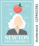 web banner for newton day on... | Shutterstock .eps vector #1259021581