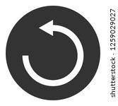 refresh icon. undo vector sign. ... | Shutterstock .eps vector #1259029027