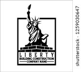 liberty building construction   ... | Shutterstock .eps vector #1259030647