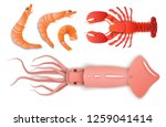 seafood in fashionable layers... | Shutterstock .eps vector #1259041414