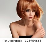 red hair. beautiful woman with... | Shutterstock . vector #125904665