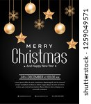 christmas party poster template | Shutterstock .eps vector #1259049571