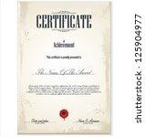 certificate template | Shutterstock .eps vector #125904977