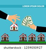 buy house banner concept for... | Shutterstock . vector #1259050927