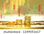 stock exchange market or forex...   Shutterstock . vector #1259051617