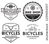 set of vintage and modern bike... | Shutterstock .eps vector #1259054557