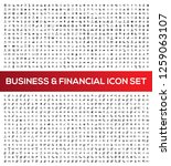 business and office vector icon ... | Shutterstock .eps vector #1259063107