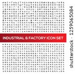 industrial and factory vector... | Shutterstock .eps vector #1259065084