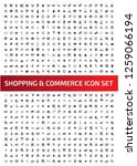 e commerce vector icon set | Shutterstock .eps vector #1259066194