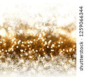 christmas background of gold... | Shutterstock . vector #1259066344