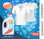 plastic bottle with clean... | Shutterstock . vector #1259066497