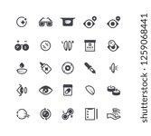 eye problems  optical contact... | Shutterstock . vector #1259068441
