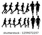 running silhouettes. vector... | Shutterstock .eps vector #1259072257