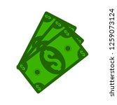 dollar banknote icon   Shutterstock .eps vector #1259073124