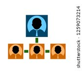 organization chart icon | Shutterstock .eps vector #1259073214