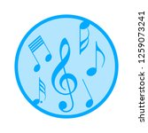 music note icon | Shutterstock .eps vector #1259073241