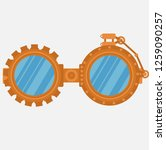 steampunk goggles isolated on... | Shutterstock .eps vector #1259090257