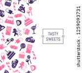flat style sweets icons | Shutterstock . vector #1259093731