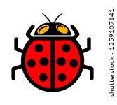 Vector Ladybug Icon