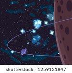2d illustration. cartoon space... | Shutterstock . vector #1259121847