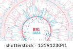 big data concept visualization. ... | Shutterstock .eps vector #1259123041
