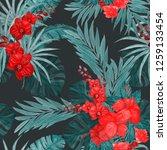 watercolor seamless pattern... | Shutterstock . vector #1259133454
