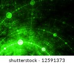 Spheres Of Matrix - stock photo