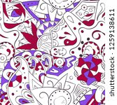 tracery seamless pattern.... | Shutterstock .eps vector #1259138611