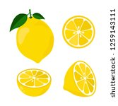 icon set lemon  vector... | Shutterstock .eps vector #1259143111
