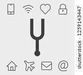 tuning fork icon stock vector... | Shutterstock .eps vector #1259143447