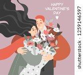 vector valentines day... | Shutterstock .eps vector #1259146597