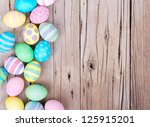 easter eggs painted in pastel... | Shutterstock . vector #125915201