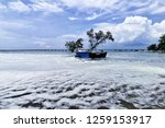 the waves of the sea produce... | Shutterstock . vector #1259153917