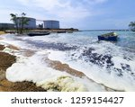 the waves of the sea produce... | Shutterstock . vector #1259154427
