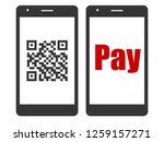 cashless   smartphone... | Shutterstock .eps vector #1259157271