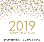 2019 happy new year. card for... | Shutterstock . vector #1259164441