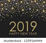 2019 happy new year. card for... | Shutterstock . vector #1259164444