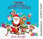 vintage christmas poster design ... | Shutterstock .eps vector #1259171647