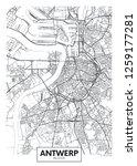 city map antwerp  travel vector ... | Shutterstock .eps vector #1259177281